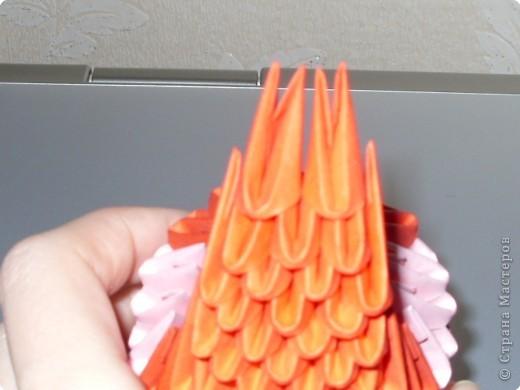 Мастер-класс Оригами модульное: МК на изготовление попугайчика Бумага. Фото 35