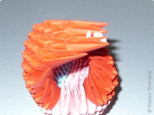 Мастер-класс Оригами модульное: МК на изготовление попугайчика Бумага. Фото 36