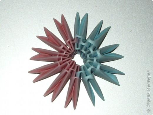 Мастер-класс Оригами модульное: МК на изготовление попугайчика Бумага. Фото 6