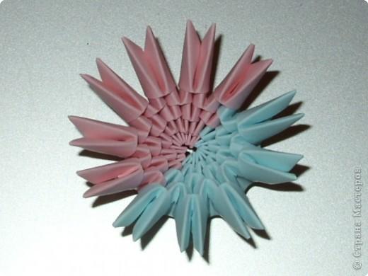 Мастер-класс Оригами модульное: МК на изготовление попугайчика Бумага. Фото 7