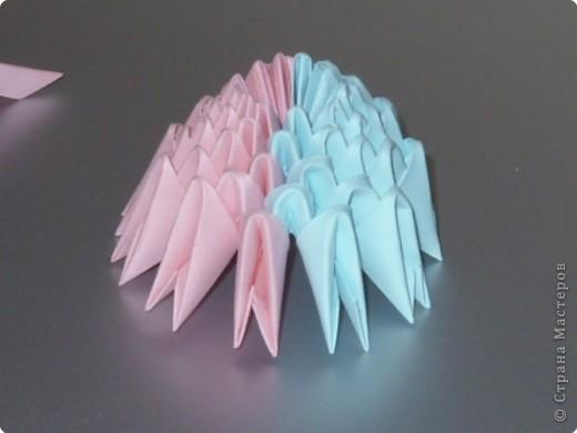 Мастер-класс Оригами модульное: МК на изготовление попугайчика Бумага. Фото 8