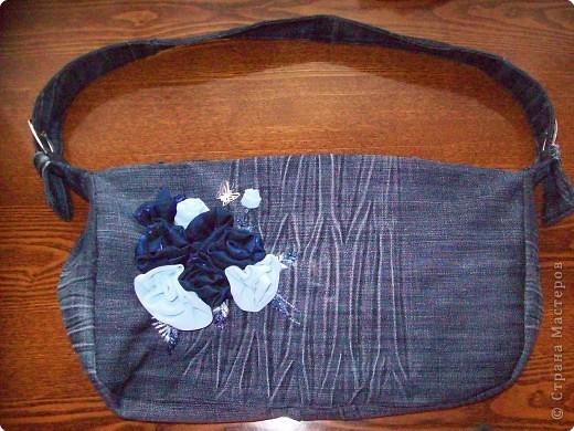 Шитьё: сумка джинсовая Ткань.  Фото 1.