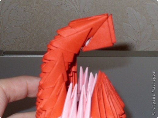 Мастер-класс Оригами модульное: МК на изготовление попугайчика Бумага. Фото 42