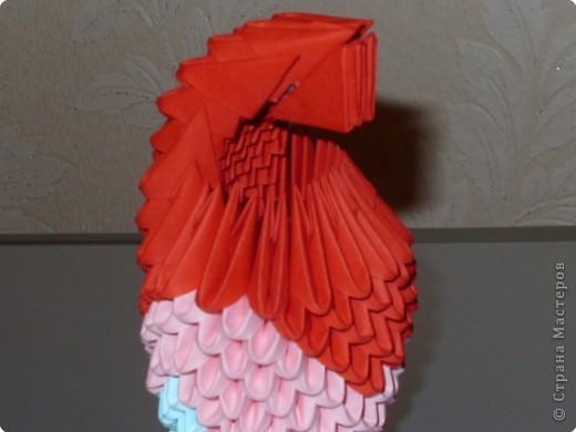 Мастер-класс Оригами модульное: МК на изготовление попугайчика Бумага. Фото 43