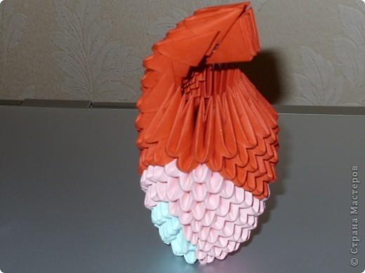 Мастер-класс Оригами модульное: МК на изготовление попугайчика Бумага. Фото 44