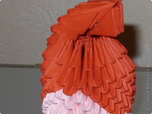 Мастер-класс Оригами модульное: МК на изготовление попугайчика Бумага. Фото 45
