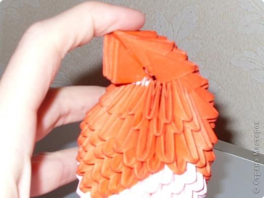 Мастер-класс Оригами модульное: МК на изготовление попугайчика Бумага. Фото 46