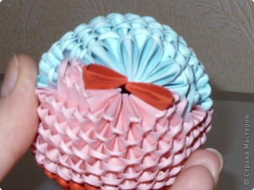 Мастер-класс Оригами модульное: МК на изготовление попугайчика Бумага. Фото 48