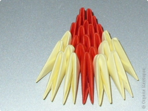 Мастер-класс Оригами модульное: МК на изготовление попугайчика Бумага. Фото 58