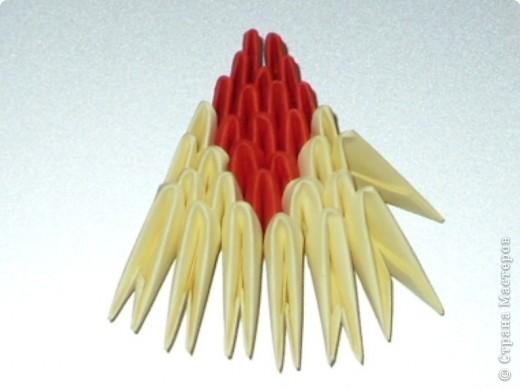Мастер-класс Оригами модульное: МК на изготовление попугайчика Бумага. Фото 59