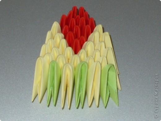 Мастер-класс Оригами модульное: МК на изготовление попугайчика Бумага. Фото 61