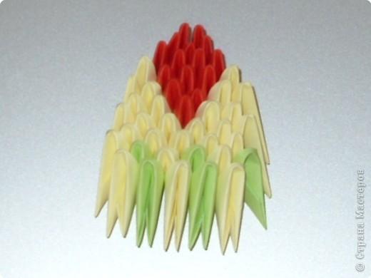 Мастер-класс Оригами модульное: МК на изготовление попугайчика Бумага. Фото 62
