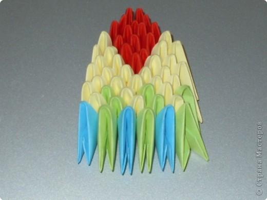 Мастер-класс Оригами модульное: МК на изготовление попугайчика Бумага. Фото 63
