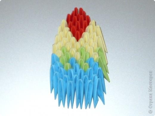 Оригами модульное: МК на изготовление попугайчика
