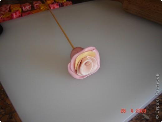 Кулинария, Мастер-класс,  Лепка, : Сладкая розочка 8 марта, . Фото 6