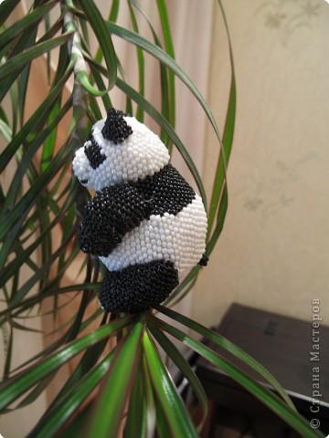 Игрушка Бисероплетение: панда.