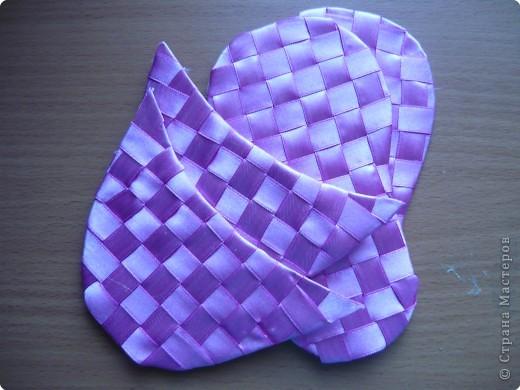 Мастер-класс Плетение: Тапочки в подарок Ленты. Фото 7