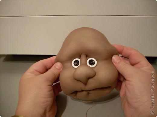 Скульптура: Делаем куклу. Личико...... Фото 36