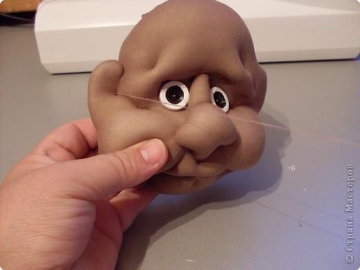 Скульптура: Делаем куклу. Затылочек..... Фото 6
