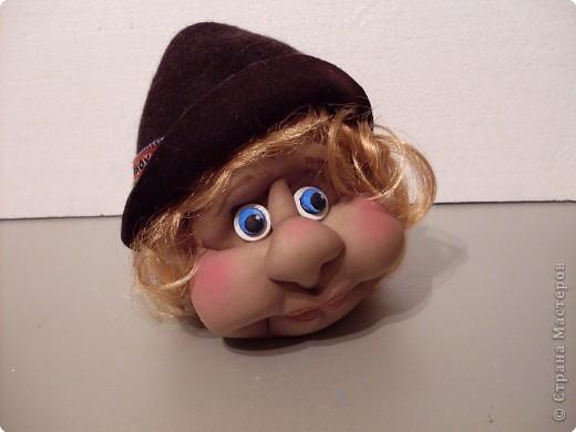 Мастер-класс Игрушка мягкая: Делаем куклу. Глазки..... Ткань. Фото 12