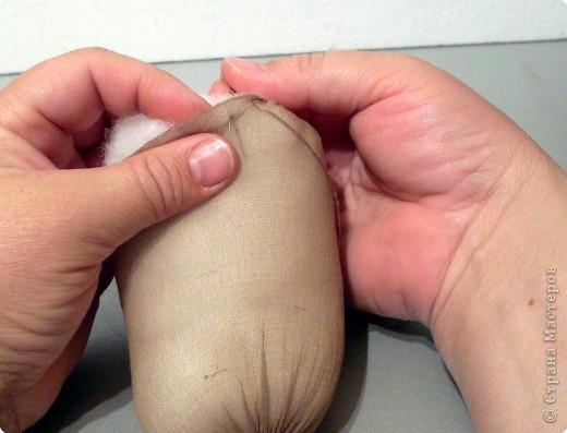 Скульптура: Делаем куклу. Оформляем ножки..... Фото 6