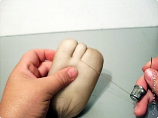 Скульптура: Делаем куклу. Оформляем ножки..... Фото 8