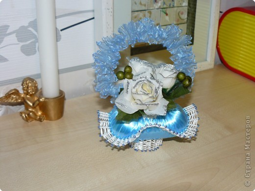 Мастер-класс Плетение: МК..Мыльные корзиночки Ленты, Мыло Новый год, Рождество. Фото 1