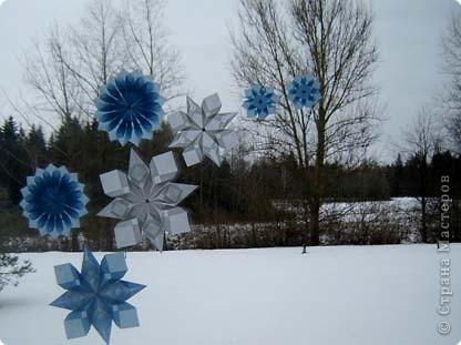 Мастер-класс,  Оригами, : Снежинки Бумага Новый год, . Фото 1
