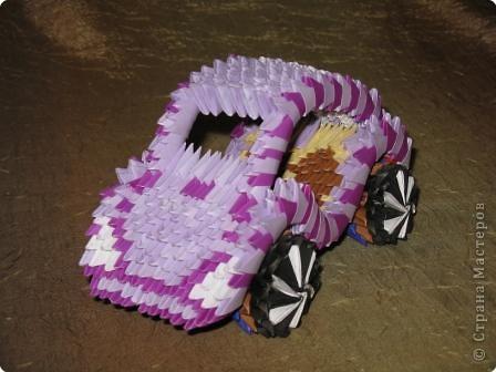 Мастер-класс Оригами модульное: МК машина Бумага.  Фото 21.