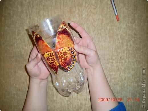 Бабочка из пластиковой бутылки своими руками фото 85