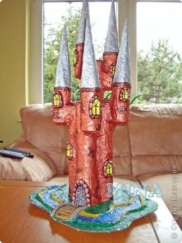 Папье-маше: Заколдованный замок Картон. Фото 1