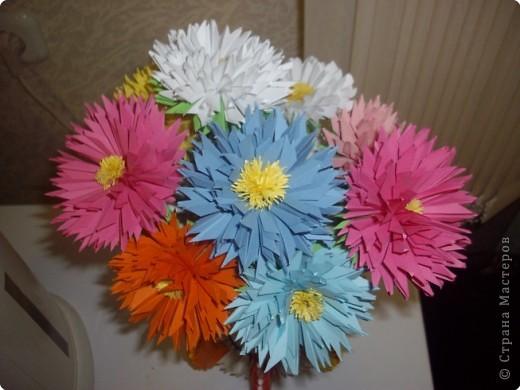 Оригами модульное: Ваза с цветами.  Фото 2.