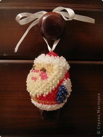 Игрушка Бисероплетение: Дед мороз Бисер Новый год.  Фото 1.