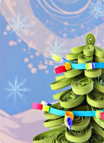 Мастер-класс Квиллинг: Елочка-красавица Бумага Новый год. Фото 3