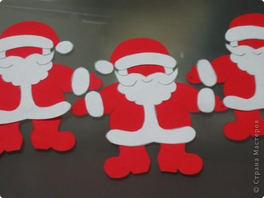 Мастер-класс, Открытка Аппликация, Вырезание силуэтное: 4 декабря - День заказов подарков Деду Морозу (Новогодняя гирлянда). Бумага Новый год, Рождество. Фото 10