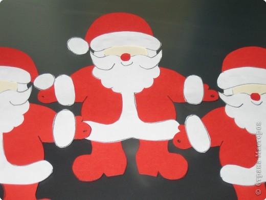 Мастер-класс, Открытка Аппликация, Вырезание силуэтное: 4 декабря - День заказов подарков Деду Морозу (Новогодняя гирлянда). Бумага Новый год, Рождество. Фото 11