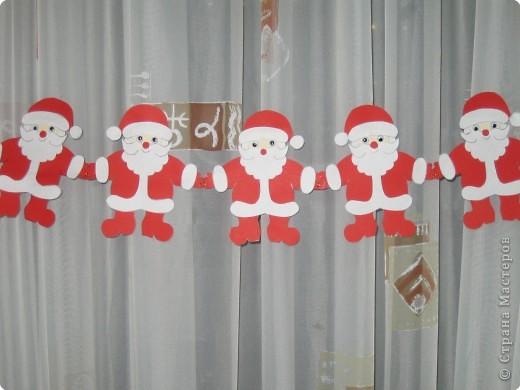 Мастер-класс, Открытка Аппликация, Вырезание силуэтное: 4 декабря - День заказов подарков Деду Морозу (Новогодняя гирлянда). Бумага Новый год, Рождество. Фото 18