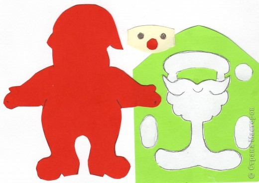 Мастер-класс, Открытка Аппликация, Вырезание силуэтное: 4 декабря - День заказов подарков Деду Морозу (Новогодняя гирлянда). Бумага Новый год, Рождество. Фото 4