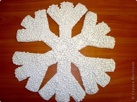 Большие снежинки из картона своими руками