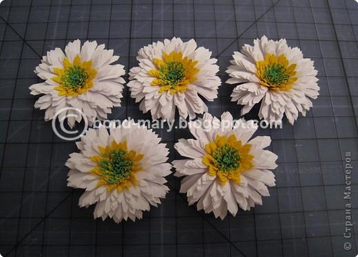 Мастер-класс Квиллинг: Летние хризантемы Бумага. Фото 12