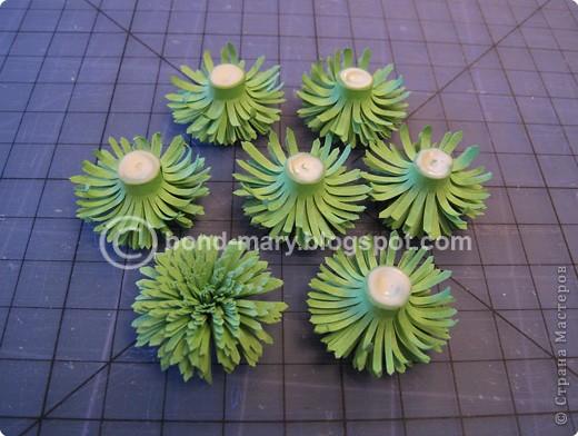 Мастер-класс Квиллинг: Летние хризантемы Бумага. Фото 14