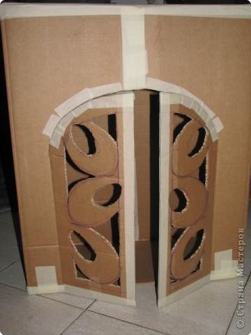 Дверь из картона своими руками