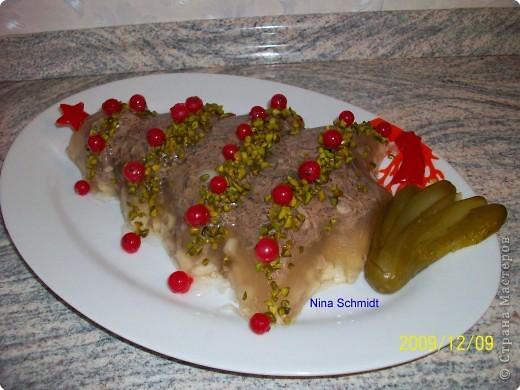 Кулинария: Новогодний холодец.  Продукты пищевые Новый год.  Фото 1.