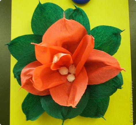 Поделка аленький цветочек из бумаги