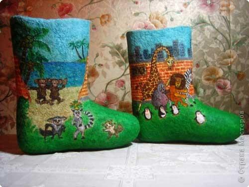 Роспись: Расписные и декорированные валенки. Фото 2
