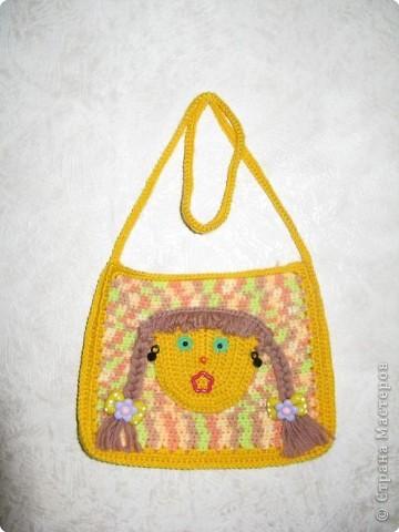 Игрушка Вязание крючком: сумочка для девочки Нитки.
