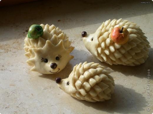 Мастер-класс Лепка: Ежики из соленого теста Тесто соленое. Фото 1