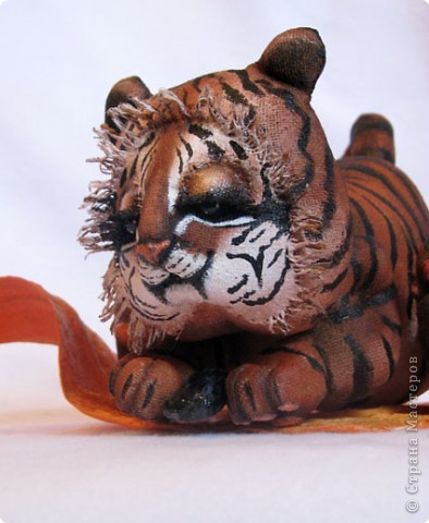 Изготовление тигренка на подсолнухе 31c