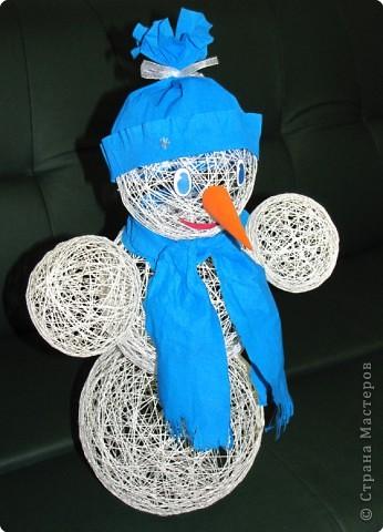 Поделки снеговик своими руками из ниток
