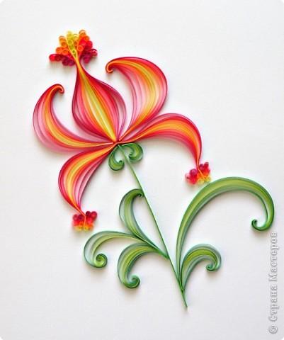Квиллинг: Аленький цветочек.